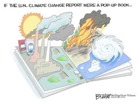 Ha az ENSZ klímamegbolondulás jelentése egy 3D mesekönyv lenne