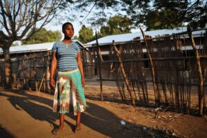 Lucy Anusa, now a 15-year-old mother, has returned to live with her family near Lake Malawi.