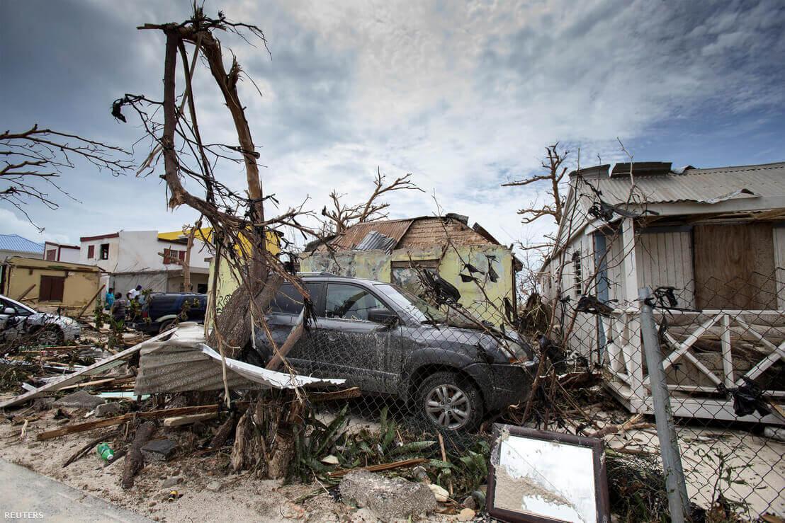 Saint Martin az Irma pusztítása után | Fotó: Handout / REUTERS
