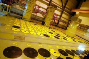 Sellafield nuclear plant in North England - hight level radioaktive nuclear waste